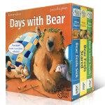 顺丰发货 英文原版 Days with Bear 贝尔熊3册纸板书盒装 Karma Wilson 吴敏兰推荐亲子绘本