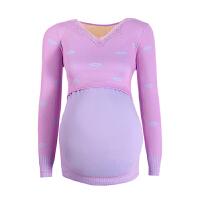 孕妇保暖内衣女套装加绒产后哺乳秋衣秋裤加厚保暖睡衣喂奶月子服