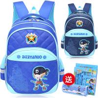 儿童书包6-12周岁男孩休闲潮背包时尚双肩包书包小学生3-5年级
