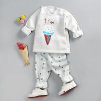 秋冬新款儿童保暖内衣加绒加厚 小童卡通牛奶丝套装
