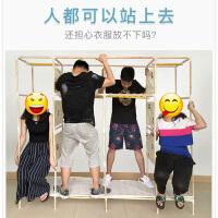 简易布衣柜实木布艺组装儿童家用卧室出租房用柜子现代简约储物柜