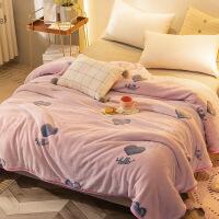 【好货】珊瑚绒毯子夏季薄款小毛毯毛巾被子床单双人夏天空调午睡毯法兰绒