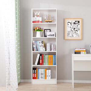 美达斯 书架书柜 三层五层自由组合书架 简约时尚书柜 书房儿童房书橱置物收纳架子