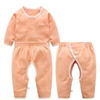 新生儿衣服空调服春秋夏纯棉宝宝和尚服初生婴儿内衣三件套装全棉 西瓜红 66参考身高60-65cm