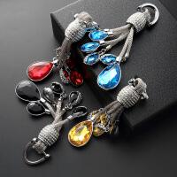 汽车钥匙扣挂件汽车钥匙扣女钻水滴钥匙链高档钥匙扣吊坠创意个性