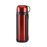 户外保温大容量水壶不锈钢旅行热水瓶 1.8L LHC1427 红色 LHC1427R