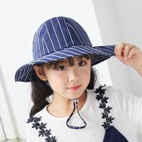 男女童小姐姐儿童盆帽子可爱萌夏天遮阳宝宝渔夫帽春秋薄款