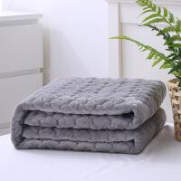 法兰绒毛毯夹棉加厚被单加绒双人1.8m床毯子冬季床单单件保暖防滑定制