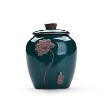 【优选】茶叶罐陶瓷大号密封存储物罐装茶叶罐普洱茶叶包装盒茶盒