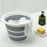 便携折叠水桶居家户外大容量多用水桶手提式可折叠塑料水桶