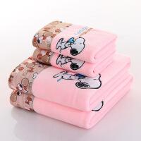 婴儿浴巾超柔软比纯棉吸水新生儿童卡通初生洗澡冬季加厚宝宝毛巾