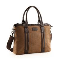 潮男包帆布包单肩包 男士手提包商务包斜挎背包14寸 15寸笔记本电脑包