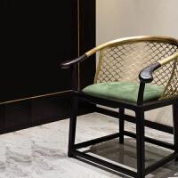 【新品热卖】新中式圈椅三件套茶椅现代简约椅子太师椅官帽椅禅椅家具