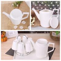 骨瓷水具套装 北欧简约陶瓷凉水冷水壶杯子套装 耐热家用茶杯具套装