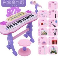 儿童电子琴女孩初学者入门可弹奏音乐玩具宝宝多功能小钢琴3-6岁1生日礼物