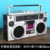 好货复古怀旧老式铁皮录音机收音机电视机模型摆件拍摄影视道具装饰SN7316