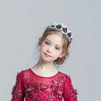 新娘皇冠�和�皇冠 �Y服配� 女童�^� �和�立�w�^箍�l箍 花童配�MYZQ54 皇冠