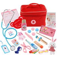 儿童过家家医生玩具套装仿真布袋医药箱 模拟护士打针包