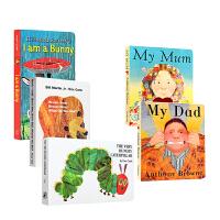 预售 英文原版启蒙早教读物 I am a bunny我是一只兔子my dad my mum我爸爸我妈妈 Brown B