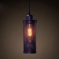美式乡村铁艺金属铁网吊灯 复古咖啡馆灯餐厅灯 工业酒吧吊灯灯饰 送40W原装灯泡