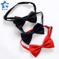 男女童学生节目表演出蝴蝶结领结黑色红色领花儿童宝宝领结