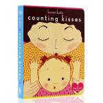 英文原版绘本 Counting Kisses 数亲亲 美国国家亲子出版物金奖 纸板书 Karen Katz 凯伦卡茨儿