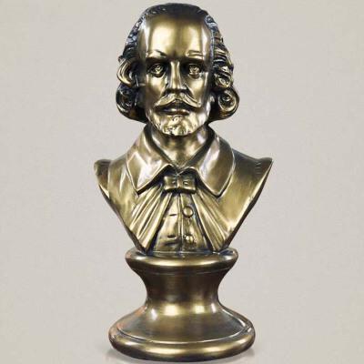 欧式人物莎士比亚头像摆件美式乡村人物雕像雕塑工艺品家居客厅玄关