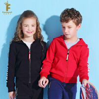 法纳贝儿男童女童运动风时尚连帽外套开衫卫衣BH1W05
