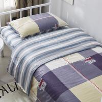 学生宿舍全棉三件套单人床单被套纯棉四件套床上用品被子褥六件套定制