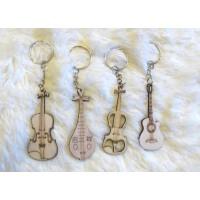 支持货到付款 乐器钥匙链 吉他 提琴月琴 钥匙扣 挂链 饰品 挂件  (一套4个)