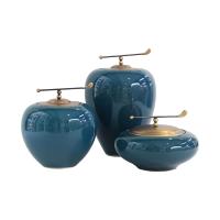 新中式陶瓷客厅摆件家居饰品电视柜玄关书柜家装工艺品摆设装饰品