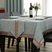 欧式桌布布艺长方形家用小清新素色纯色茶几桌旗台布垫餐桌布套装