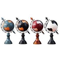 欧式地球仪摆件客厅书房办公室玄关酒柜装饰品创意复古家居工艺品