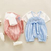 夏季婴幼儿外出服婴儿衣服可爱夏装薄款宝宝洋气连体衣