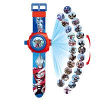 贝伦多玩具小猪手表电子表佩奇狗狗队儿童卡通24图投影手表