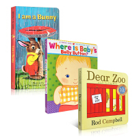 顺丰发货 Dear zoo I am a bunny Where Is Baby's Belly Button 3本纸