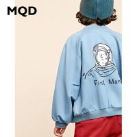 MQD男童童装2019秋季新款儿童外套卫衣运动衫中大童连帽卫衣