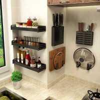 厨房置物架免打孔壁挂式家用调味料用品大全神器刀架挂架收纳架子