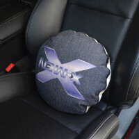 汽车用品棉麻抱枕被子车用腰靠亚麻卡通可爱腰垫靠枕空调被两用定制
