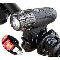 骑单车山地自行车灯骑行头灯前灯LED充电USB装备配件
