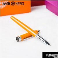 hero英雄钢笔 3015A橘色钢笔 学生练字钢笔 细笔
