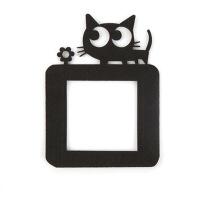 【好货】卡通开关插座贴墙贴 10个装创意毛毡布开关保护套装饰套 装饰品 开关贴 10个装 黑色小猫