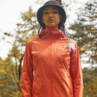 探路者冲锋衣 20春夏户外女式一体式卡扣单层冲锋衣TABI82966