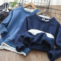 男童加�q�l衣�和��u粒�q打底衫中大童保暖套�^衫冬季
