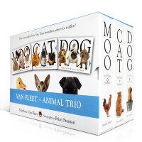 Van Fleet Animal Trio: Moo; Cat; Dog 3本精装盒装 幼儿启蒙认知英文原版立体书绘本