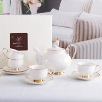 英式下午茶茶具套装 家用欧式幸福小天使 复古骨瓷茶壶茶杯套装礼盒 9件