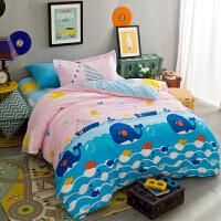 纯棉学生宿舍被套单人全棉床上三件套床品 儿童床单1.2米床上用品