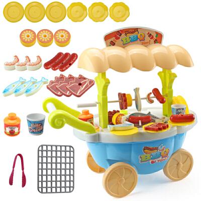 儿童过家家玩具套装女孩仿真厨房女童3-6岁生日礼物冰淇淋手推车