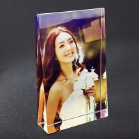 水晶照片摆件定做结婚婚纱相片定制手工diy相框摆台礼品生日刻字
