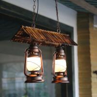 美式复古吊灯马灯 创意茶楼咖啡厅农家乐老式餐厅酒吧新中式吊灯会所特色主题餐厅装饰灯